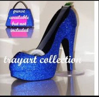 hair accessory blue glitter jewels gem tape dispenser