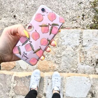 phone cover yeah bunny iphone peach fruits pastel iphone cover iphone case