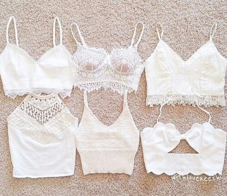 top white crop tops crochet crop top white lace top