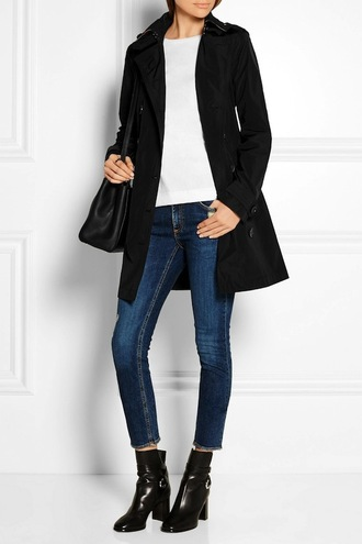 le fashion blogger jeans coat t-shirt shoes