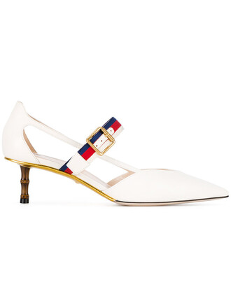 women pumps leather white shoes