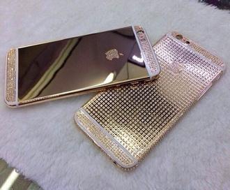 earphones gold sequins iphone cover