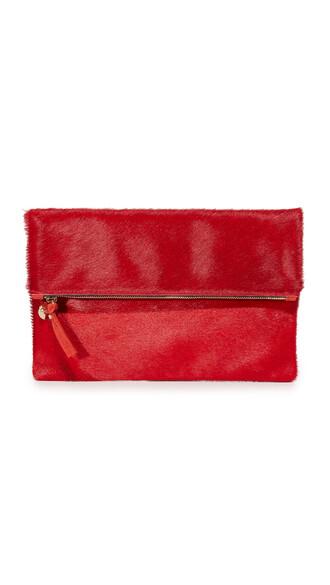 clutch red bag