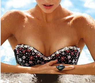 black swimwear bikini sexy fashion black bikini shopping two-piece