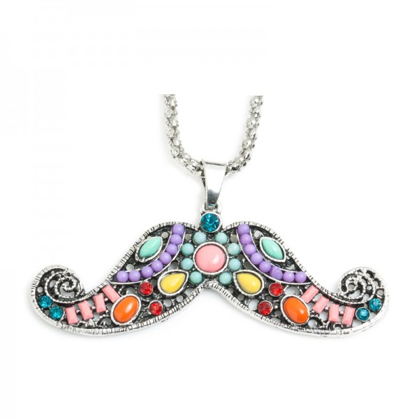jewels moustache necklace necklace multicolor