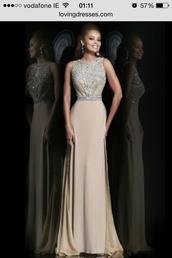 dress,nude beads elegant,homecoming dress,sexy,sexy dress,sexy shoes,black dress,maxi dress,prom dress,tan,sequins,glitter