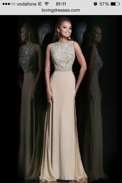 43b3c7b6caa dress nude beads elegant homecoming dress sexy sexy dress sexy shoes black  dress maxi dress prom