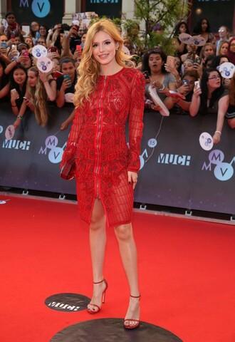 dress red red dress bella thorne sandals