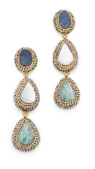 statement earrings pearl statement earrings blue jewels