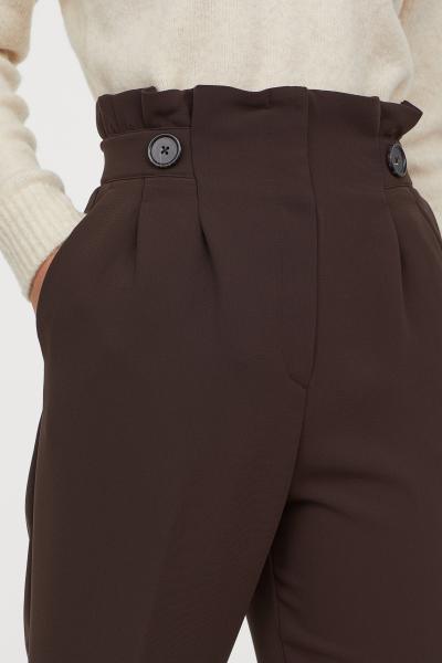 Paper-bag Pants - Dark brown - Ladies   H&M US