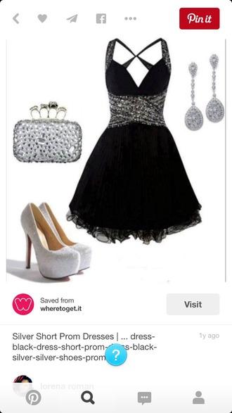 dress black dress short dress sequins