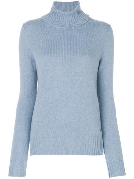 jumper women turtle blue sweater