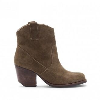 shoes suede boots cowboy boots
