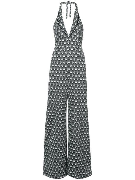 Anna Sui jumpsuit women cotton print black