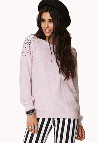 Studded Raglan Sweatshirt | FOREVER21 - 2058484525