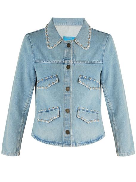 M.i.h Jeans jacket denim jacket denim studded light