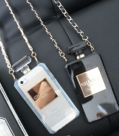 chanel black white phone case phone cover. iphone case jewels gold bag iphone 5 case