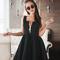 Women's party strict shift zipper neoprene bell dress