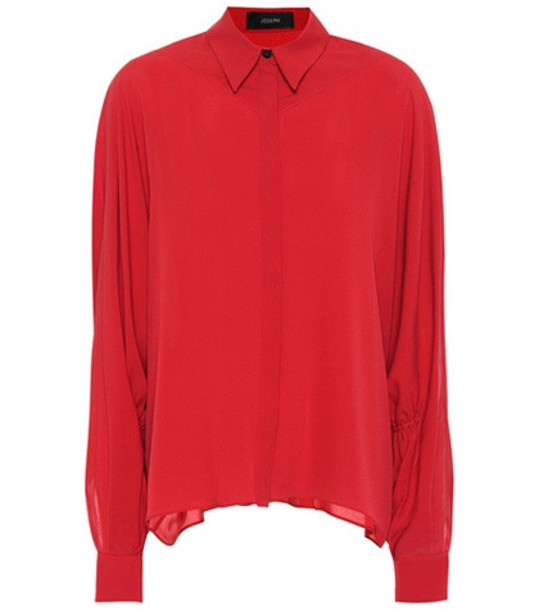 Joseph Yeats silk blouse in red
