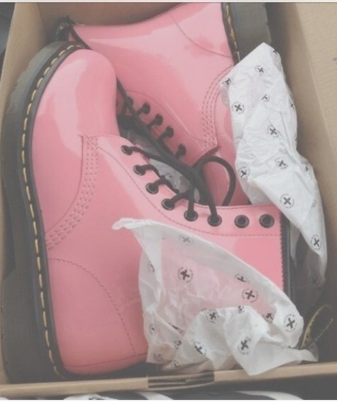 pink pink boots Laces DrMartens