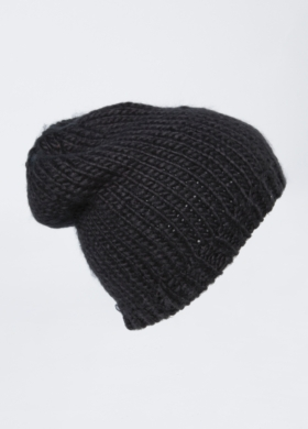 Christina Slouch Beanie - Women's Black Knit Cap in  at Brooklyn Industries