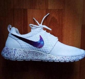 shoes nike galaxy print galaxy white nike running shoes nike shoes galaxy shoes make-up pajamas