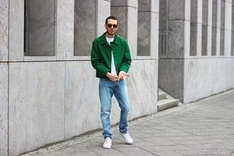 starecasers blogger mens jeans green jacket mens jacket
