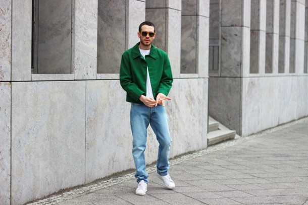 starecasers blogger mens jeans green jacket mens jacket