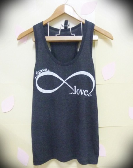 infinity a black forever love tank top