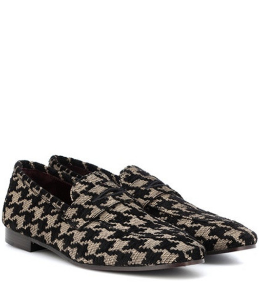 Bougeotte Classic tweed loafers in black