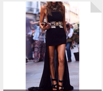 dress prom prom dress black black dress long long dress maxi maxi dress fashion streetstyle designer belt little black dress celebrity