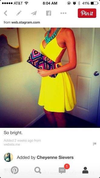 dress yellow dress