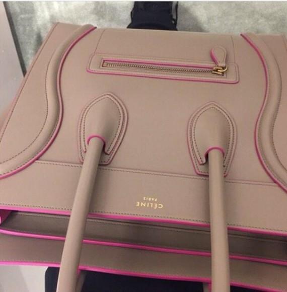 bag designer style celine purse pink