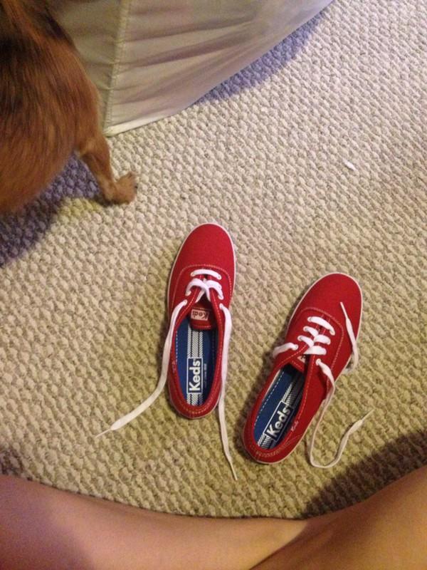 white shoes keds