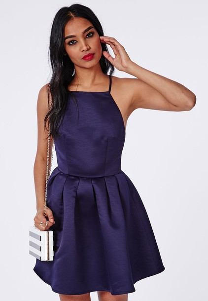 dress navy navy dress pleated skirt high neck
