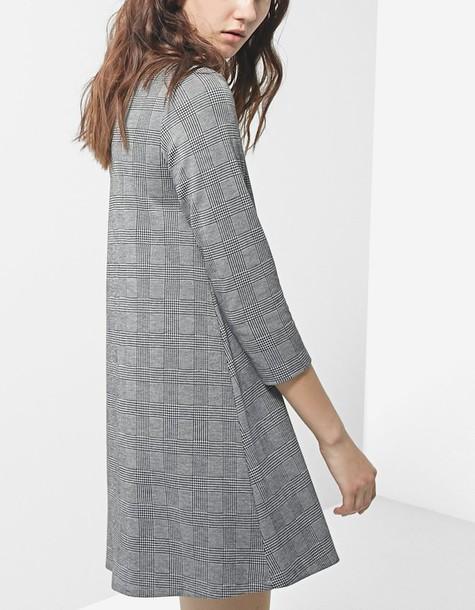 dress long sleeve dress long dark grey