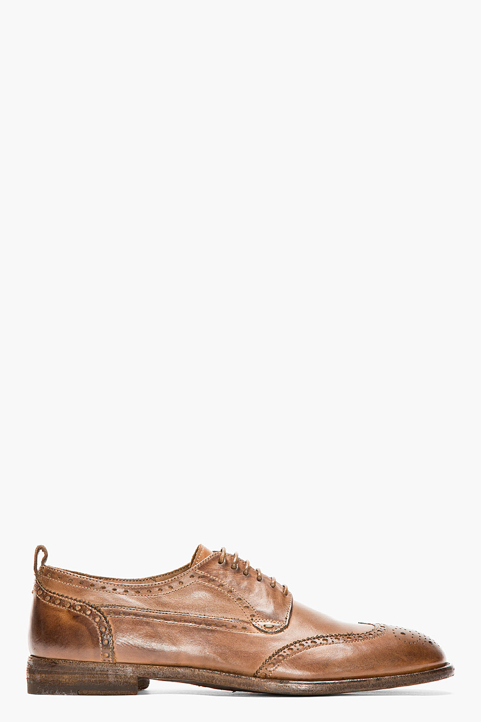 Alexander mcqueen brown leather classic shortwing brogues