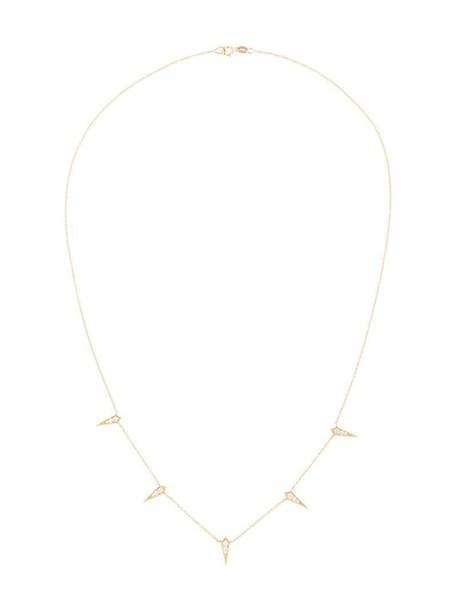 Lizzie Mandler Fine Jewelry women necklace diamond necklace gold grey metallic jewels
