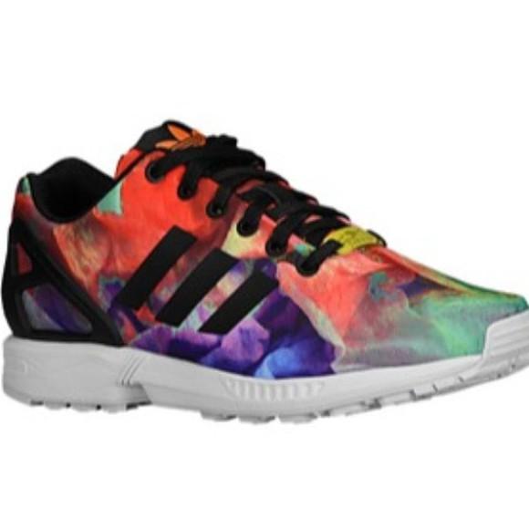 adidas shoes fluxzx vintage multicolor sneakers