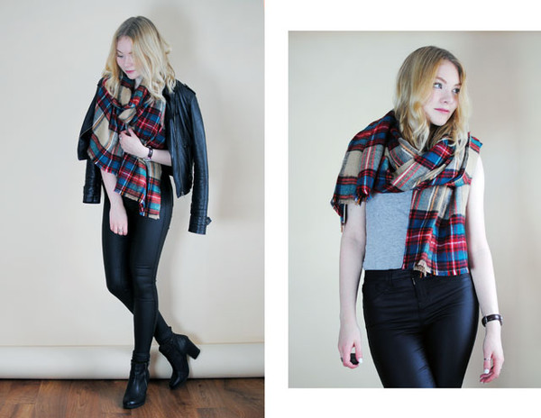 this fashion is mine blogger scarf jacket flannel scarf