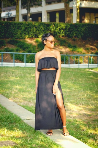 the daileigh top skirt shoes sunglasses