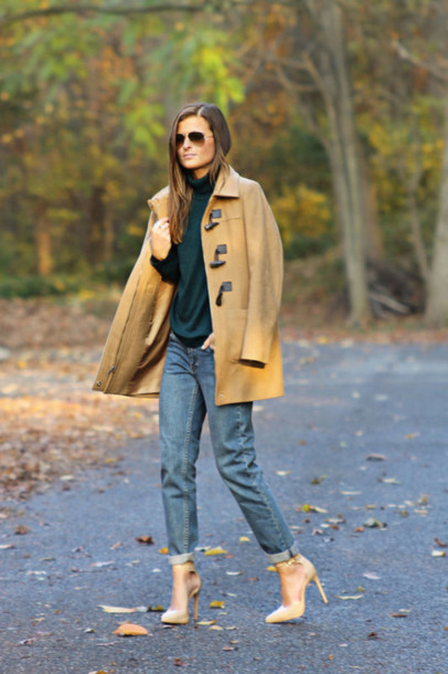 to be bright blogger jeans duffle coat apc coat shoes
