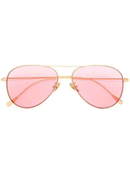 women sunglasses gold grey metallic