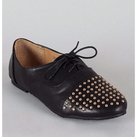 shoes studded oxfords