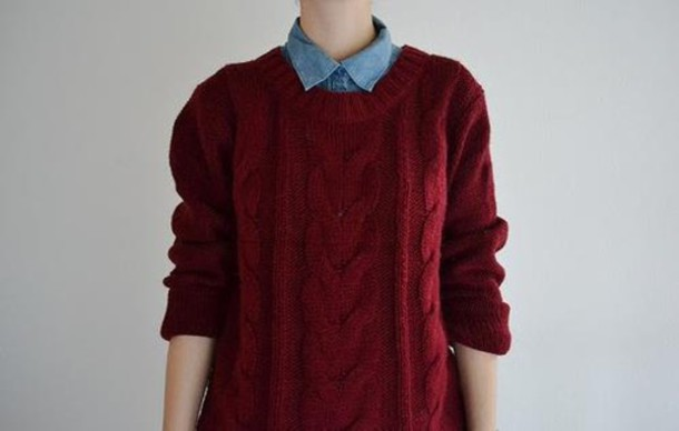 sweater oversized sweater red knit sweater