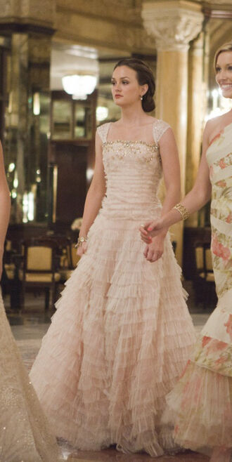 leighton meester lovely long prom dress prom dress