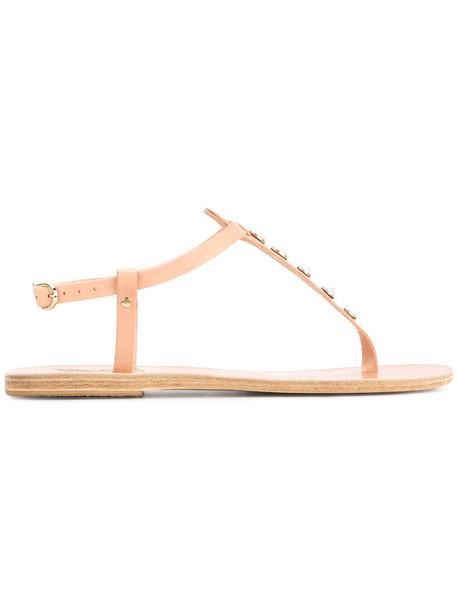 Ancient Greek Sandals women sandals leather nude shoes