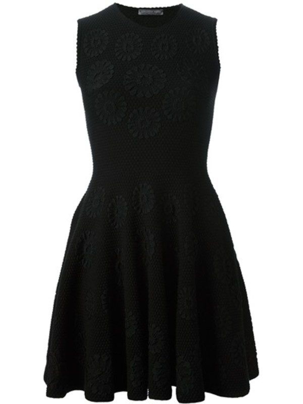 dress alexander mcqueen black dress