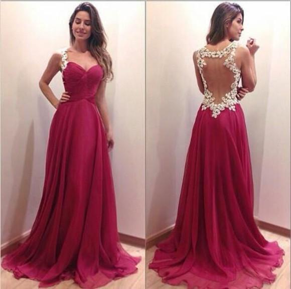 red dress prom dress lace back ball ball gown dress full length red carpet dress formal prom dresses formal dresses evening