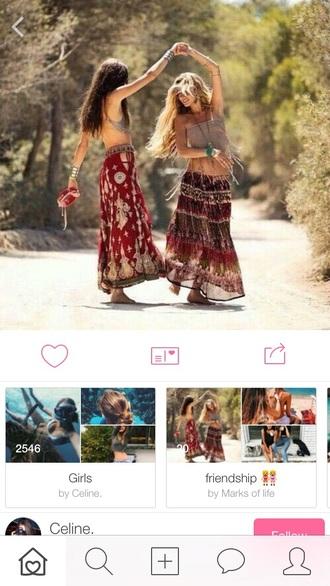 skirt summer maxi skirt maxi red tumblr tumblr outfit tumblr girl tumblr clothes tumblr skirt hipster hippie summer outfits summrr love long long skirt cute
